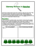 Literary Devices in Hatchet, by Gary Paulsen