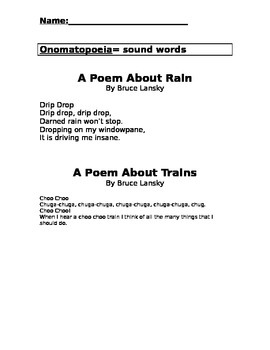 Literary Devices in Poetry Packet