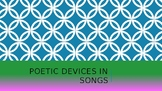 Literary Devices in Popular Songs