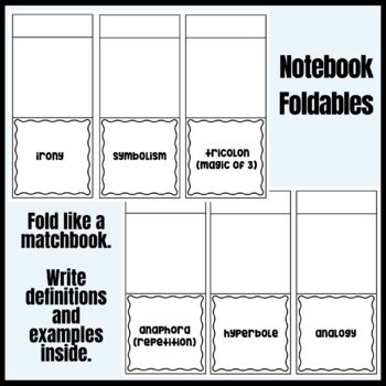 Literary Devices in The Wednesday Wars Interactive Notebook Pages