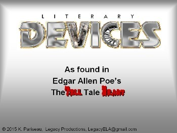 Literary Devices used in Poe's Tell Tale Heart