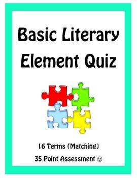 Literary Element Assessment