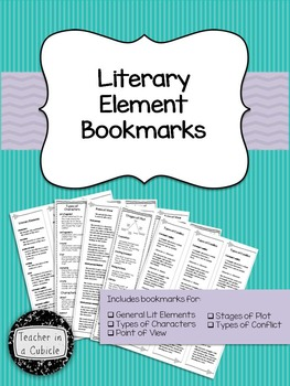 Literary Element Bookmarks