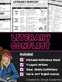 Literary Element - Conflict (Student Reference/Handout)