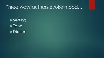 Literary Element Mood