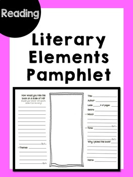 Literary Element Pamphlet