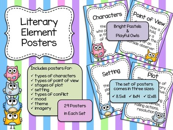 Literary Element Posters - Bright Stripes