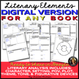 Literary Elements Activities Any Book Digital Distance Lea