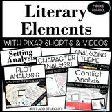 Literary Elements Activities Bundle for novel, short story