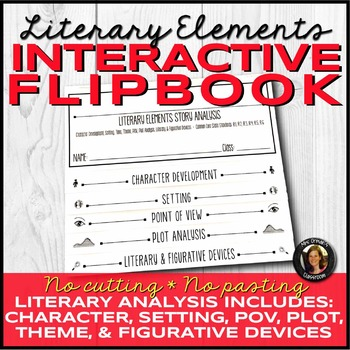 Literary Elements Analysis Interactive Notebook Flipbook for Any Novel