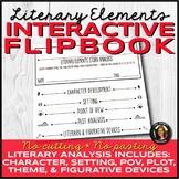 Literary Elements Analysis Interactive Notebook Flipbook f
