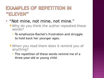 eleven by sandra cisneros analysis of repetition by sarah mcculloch eleven by sandra cisneros analysis of repetition