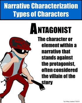 Literary Elements Antagonist Poster