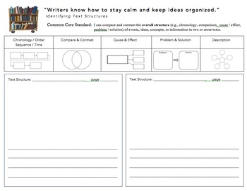 Literary Elements - Assorted Comprehension Graphic Organizers