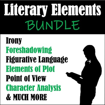 Literary Elements BUNDLE: Character, Irony, Fig. Language, Plot, & MUCH MORE