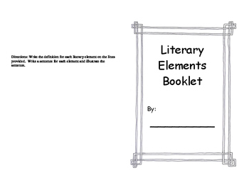 Literary Elements Booklet