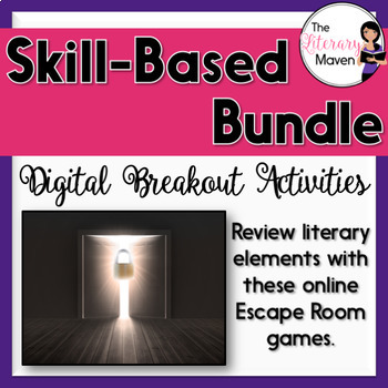 Literary Elements Digital Breakout Activity Bundle
