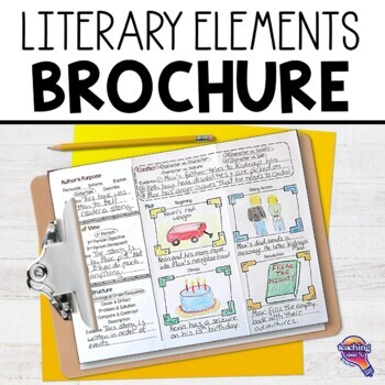 Literary Elements Brochure Use with Any Book FREEBIE