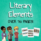 Literary Elements Worksheet & Poster Bundle