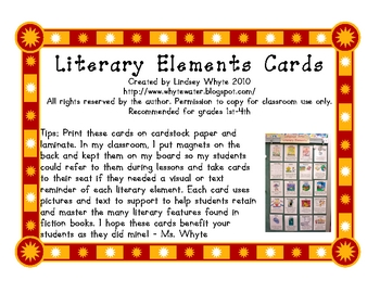 Literary Elements Cards