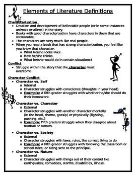 Literary Elements, Character Conflict, Plot, Tone, Mood, Etc.