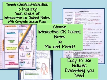 CHARACTERIZATION: TEACH, PRACTICE, TEST