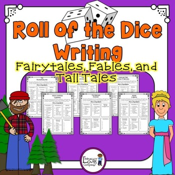 Roll of the Dice Creative Writing {Fairytales, Fables, and Tall Tales}