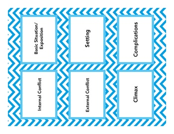 Literary Elements Chart--Student Handout WITH BONUS FLASHCARD TEMPLATES!