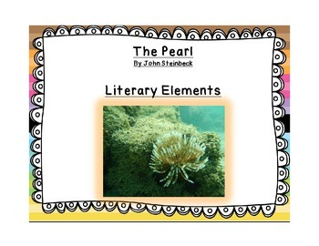 Literary Elements Chart for The Pearl - Key included