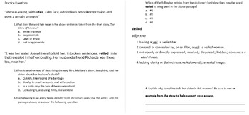 Literary Elements Common Assessment Test Quiz