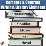 Literary Elements Compare and Contrast Writing Unit (use with any novel)
