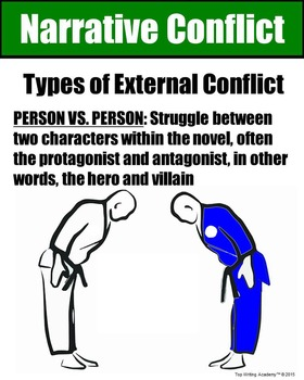 Literary Elements Conflict Person vs. Person Poster