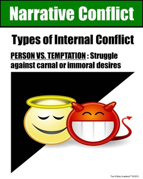 Literary Elements Conflict Person vs. Temptation Poster