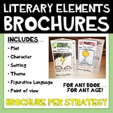 Literary Elements Features Comprehension Brochures - Plot, Theme, POV + more!