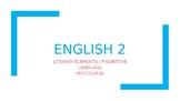 Literary Elements / Figurative Language Devices / PowerPoi