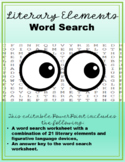 Literary Elements & Figurative Language Devices Word Search