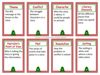 Literary Elements Trading Cards and Activities