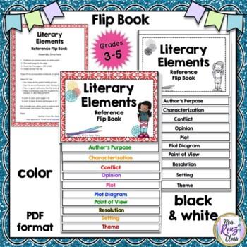 Literary Elements Posters & Story Elements Flip Book Plus Slideshow  BUNDLE