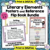 Literary Elements Posters & Story Elements Flip Book BUNDL
