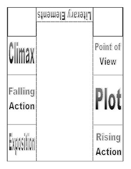 Literary Elements Foldable Notes
