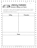 Literary Elements Graphic Organizer - Characters, Setting, Theme