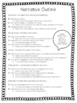 Literary Elements Graphic Organizer and Narrative Outline