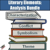 Giant Literary Elements Analysis Activities & Writing Bundle (for any novel)