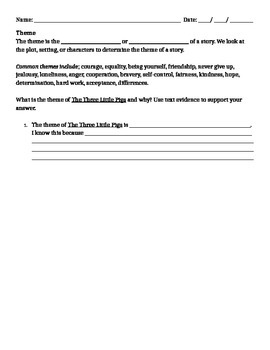 Literary Elements Guided Notes