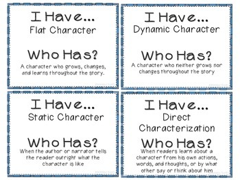 Literary Elements - I Have, Who Has? Review Game