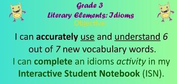 Literary Elements: Idioms