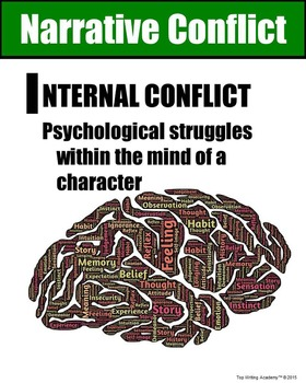 Literary Elements Internal Conflict Poster
