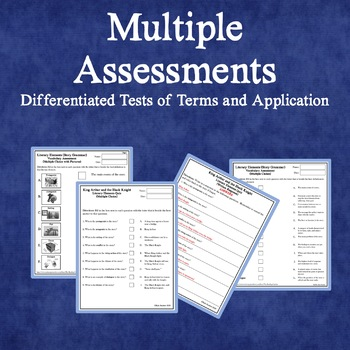 Literary Elements Complete Mini-Unit: Flashcards, Quizzes, Worksheets, Lessons