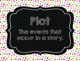 Literary Elements Multicolor Confetti Anchor Chart Bulleti