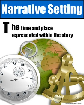 Literary Elements Narrative Setting Poster